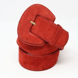 Comeco Red Suede Belt